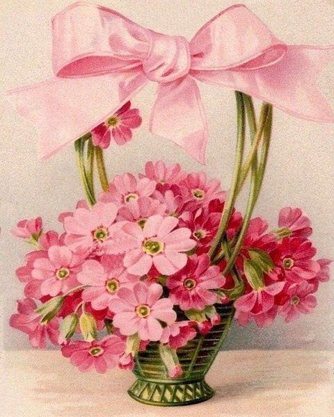tisket a tasket vintage pink greeting card