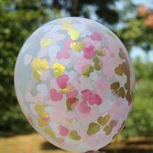 Rosa und Gold Konfetti Luftballons, rosa Herz konfetti, Gold Fotografie requisiten, luftballons hochzeit, rosa und Gold Partei versorgung(China (Mainland))