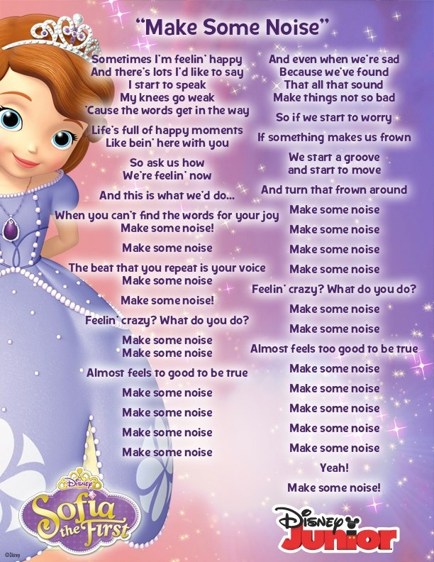 Sofia the first theme song lyrics