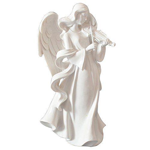 Giftgarden® Statue da Giardino Angelo Riproduce Violino B…