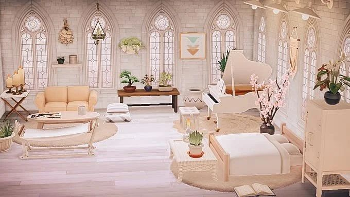 Sunny bedroom. : AnimalCrossing in 2020 | Animal crossing ... on Animal Crossing New Horizons Bedroom Ideas  id=93804