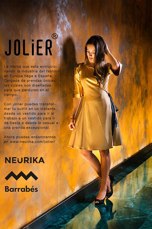 The brand that is evolving the fashion industry in Europe comes to Spain. Loaded with unique garments, which are designed to last in time. With Jolier you can transform your outfit in an instant, from a dress to go to work to a dress to party or from casual to an exceptional garment. Now you can find us on Neurika. https://www.neurika.com/jolier/reversible-60661/