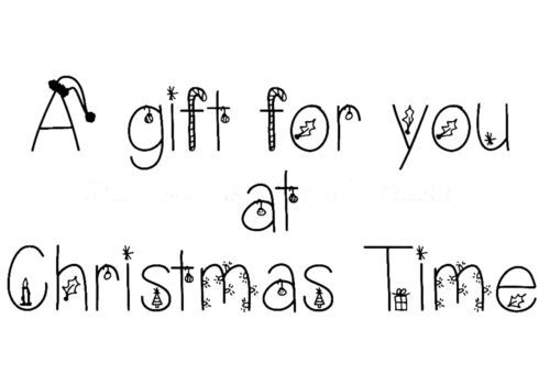 A-Gift-For-You-At-Christmas-Time-Mini-Clear-Stamp