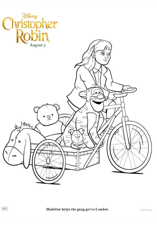 Winniethepooh Christopherrobin Coloring Printable Christopher