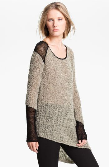 Helmut Lang Asymmetrical Bouclé Knit Pullover available at #Nordstrom