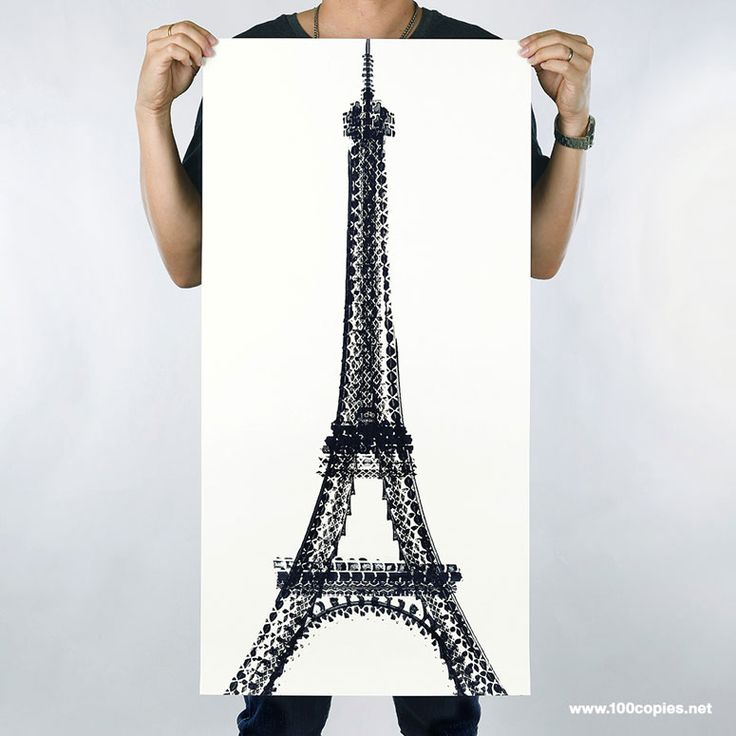 JC_ Posters of iconic structures made with the treads of bicycle tires