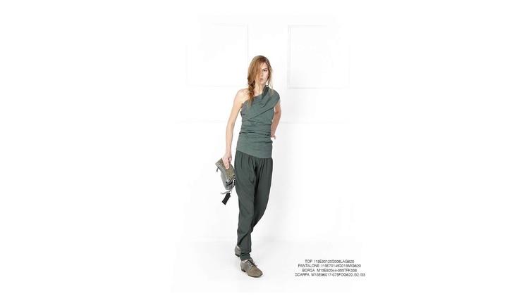 Malloni Grey Collection S13 #top #shoes #bag #slacks