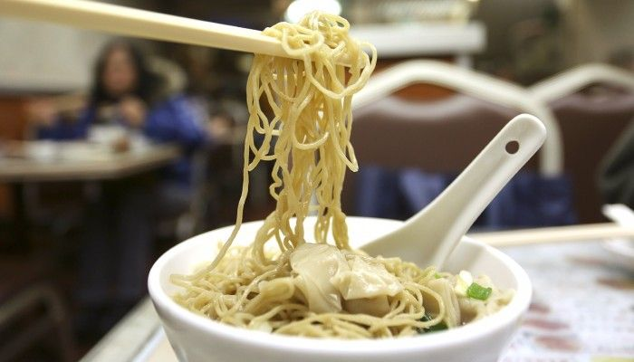 Wonton noodles in soup from Wing Wah Noodle Shop in Wan Chai. Photo: Jonathan Wong