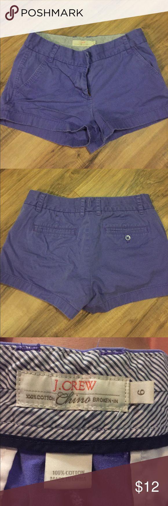 "J Crew chino shorts Purple J Crew chino shorts. 3"" inseam. Size 6. Great condition J. Crew Shorts"