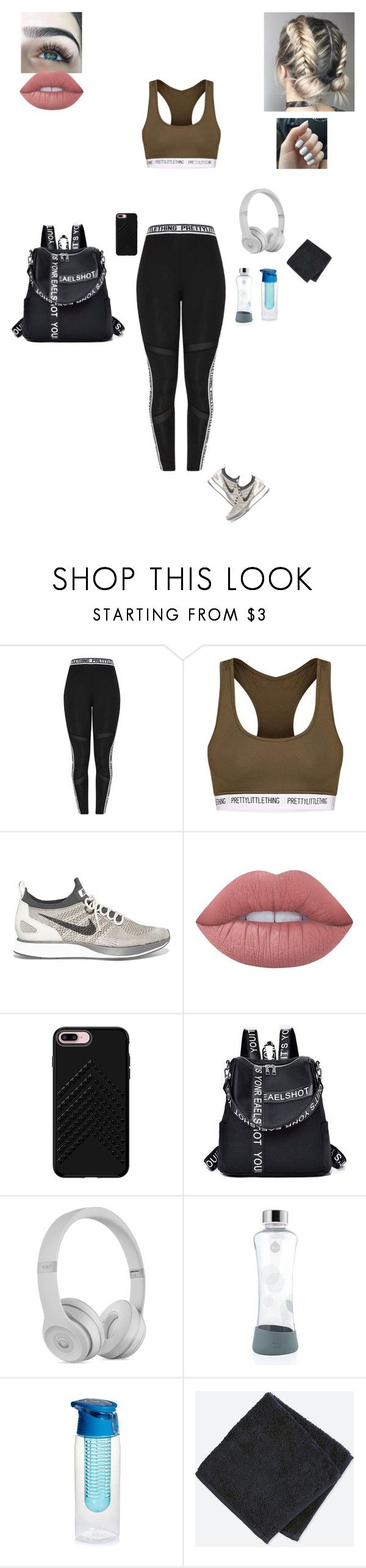 """""""Heading to the Gym :)"""" by sonialicetmartinez ❤ liked on Polyvore featuring NIKE, Lime Crime, Rebecca Minkoff and Uniqlo"""