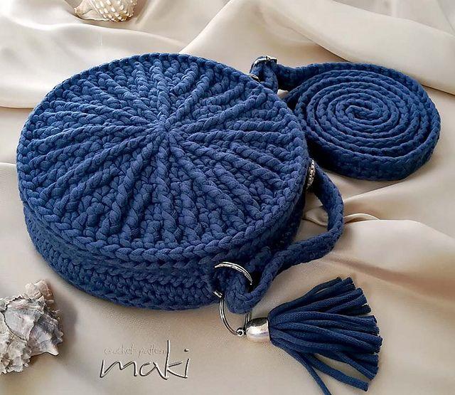 Ravelry: My round bag pattern by MakiCrochet