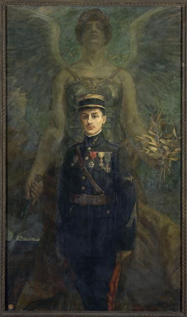 Le capitaine aviateur Guynemer, 1918, by Henri-Achille Zo. Paris, musée de l'Armée