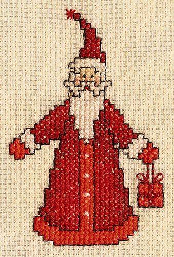 Cross Stitch Santa