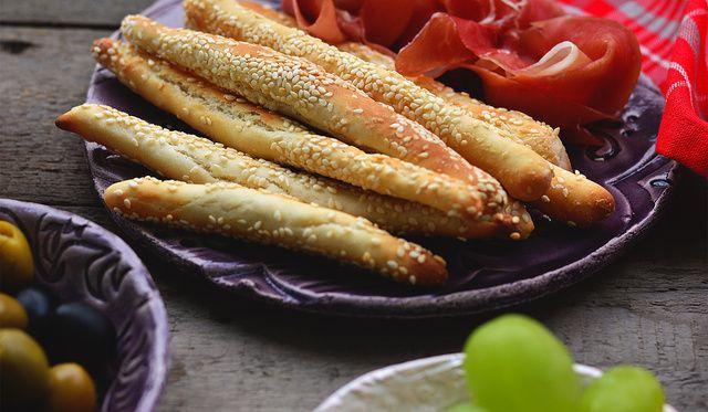 Grissini (olasz kenyérrudacskák) házilag