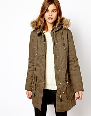 Asos.com - Warehouse Clean Parka (size 6)