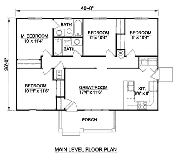 36 best guest house images on pinterest small house for 1040 square foot house plans