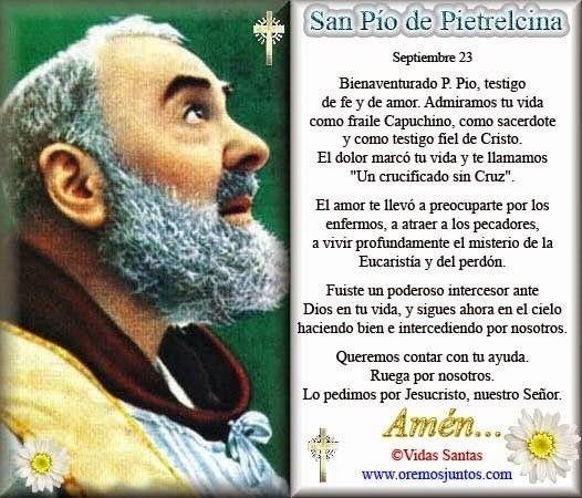 Oración al Santo Padre Pío.