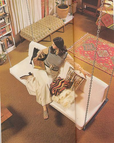 70s house - I seriously want an indoor swing.
