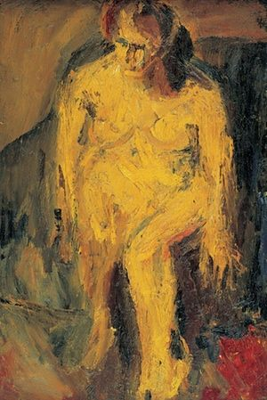 Auerbach's EOW Nude,1952. Private Collection Courtesy Fine Art, London