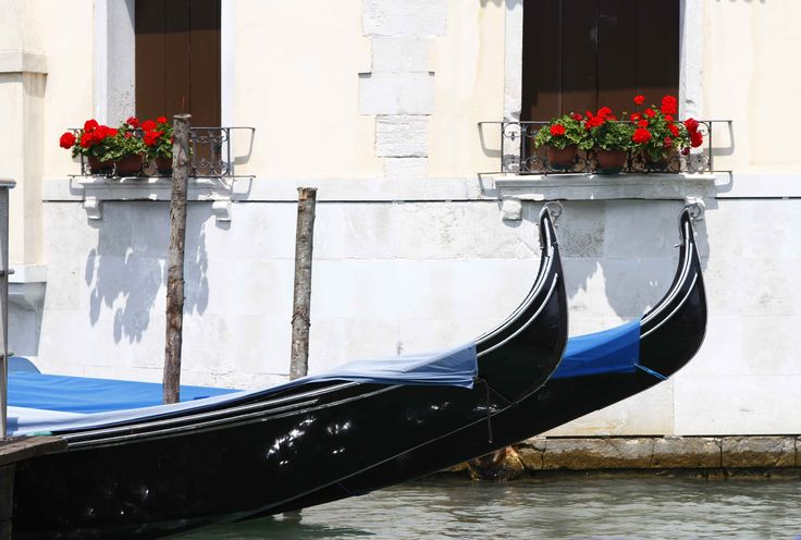 Gondolas and flowers