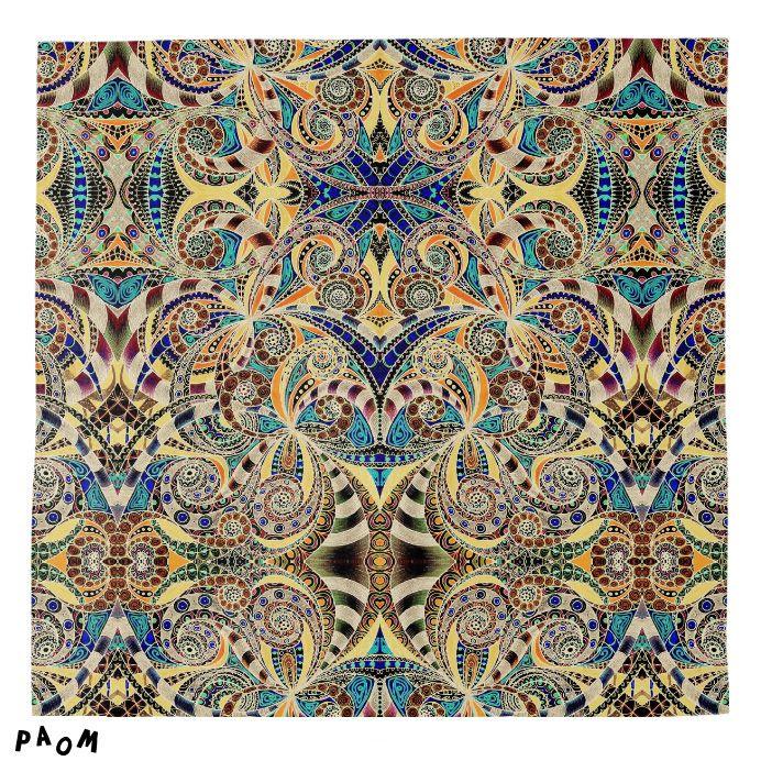 SOLD BANDANA DRAWING FLORAL ZENTANGLE G2! #Printalloverme #Paom #clothing #fashion #style #bandana #drawing #zentangle #ethnic #tribal #doodle https://paom.com/products/0000000p-bandana-drawing-floral-zentangle-g2/
