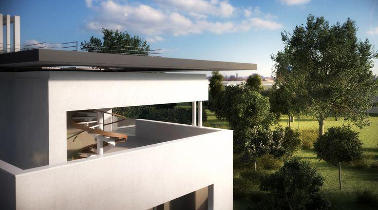 Residence Vivo a Treviso: particolare copertura e terrazza