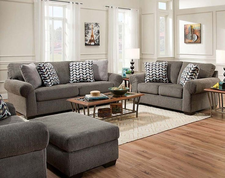 the tokyo pebble sofa and loveseat is a gray textured sofa and loveseat furniture set