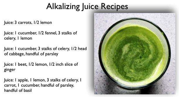 Alkaline juice recipes