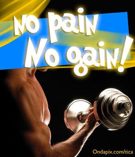 no pain no gain #gym #gimnasio