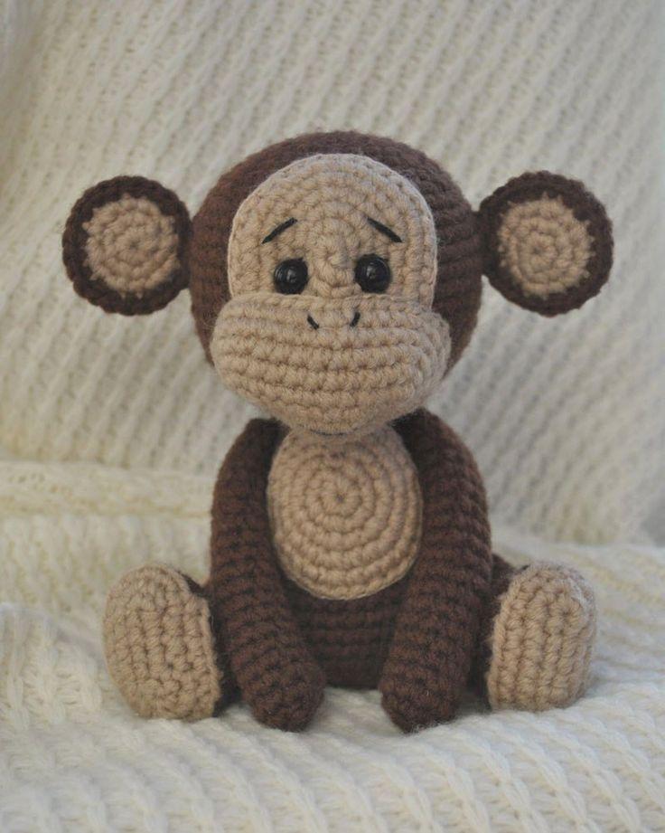 Teste padrão impertinente do amigurumi do macaco
