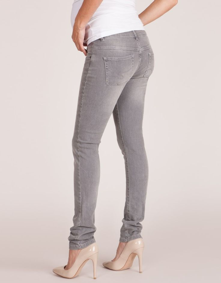 Luxe Gray Maternity Skinny Jeans