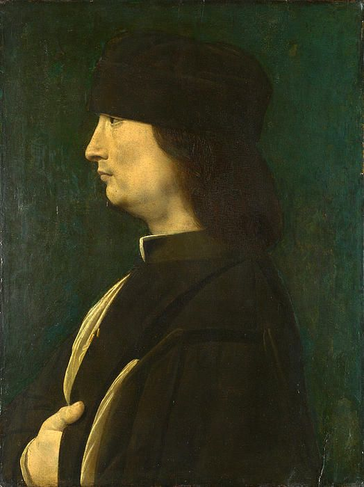 A Man In Profile  Giovanni Antonio Boltraffio