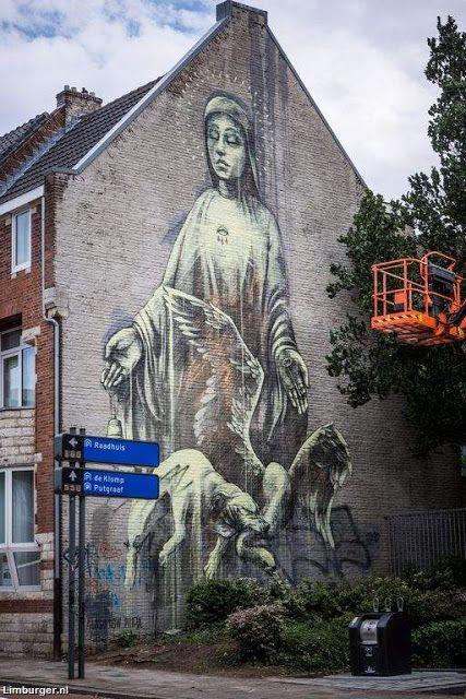 Street Art, Heerlen, Zuid-Limburg.