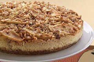 Scrumptious Apple-Pecan CheesecakeKraft Recipe, Applepecan Cheesecake, Apples Pecans Cheesecake, Cream Cheese Recipe, Sweets Recipe, Cheesecake Recipe, Scrumptious Apple'S Pecans, Scrumptious Apples Pecans, Apple'S Pecans Cheesecake