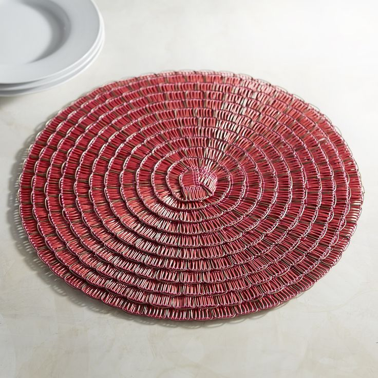 Basketweave Placemat   Red. Table LinensPlacematTable SettingsPier 1 Imports TableclothsTable ...