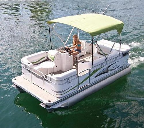 7516 C Small Electric Pontoon Boat | Flickr - Photo Sharing!
