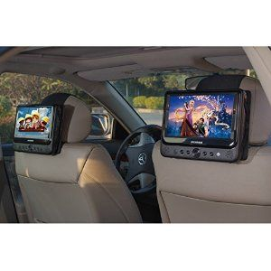 TFY Car Headrest Mount for SYLVANIA SDVD9805 Portable DVD Player - 2 Pieces