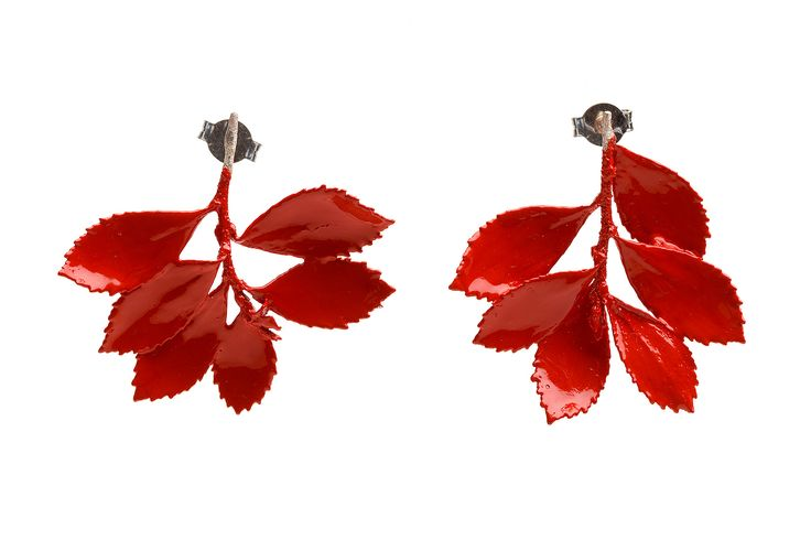 RUBER FOLIUM EARRINGS | Joana Ribeiro Joalharia