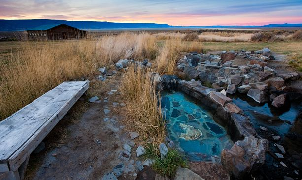 Southern Oregon - Summer Lake Hot Springs offers lodging and a rustic bathhouse for enjoying the 106- to 118-degree natural hot springs. (Photo credit: Tyler Roemer)