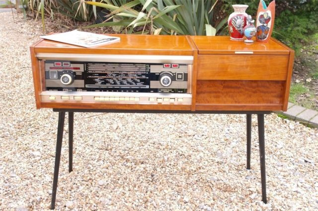 Rigonda Symphony Valve Radio Record Player Vintage 1950 S