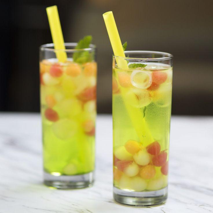 Boozy Melon Balls Cocktail