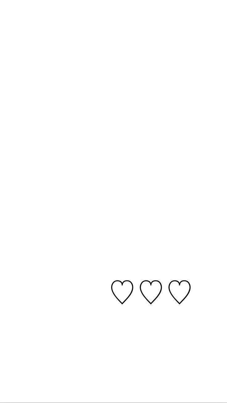 Minimal White Black Hearts Iphone Wallpaper Phone Background Lock Screen Heart Iphone Wallpaper Hipster Wallpaper White Wallpaper For Iphone