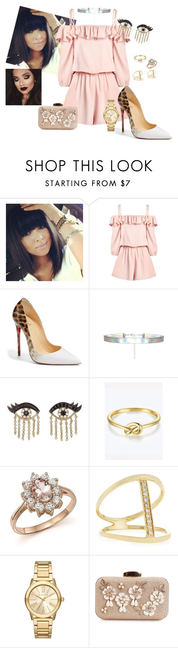 """Sem título #1137"" by anaritaferreira on Polyvore featuring moda, Christian Louboutin, Sydney Evan, Bloomingdale's e Michael Kors"