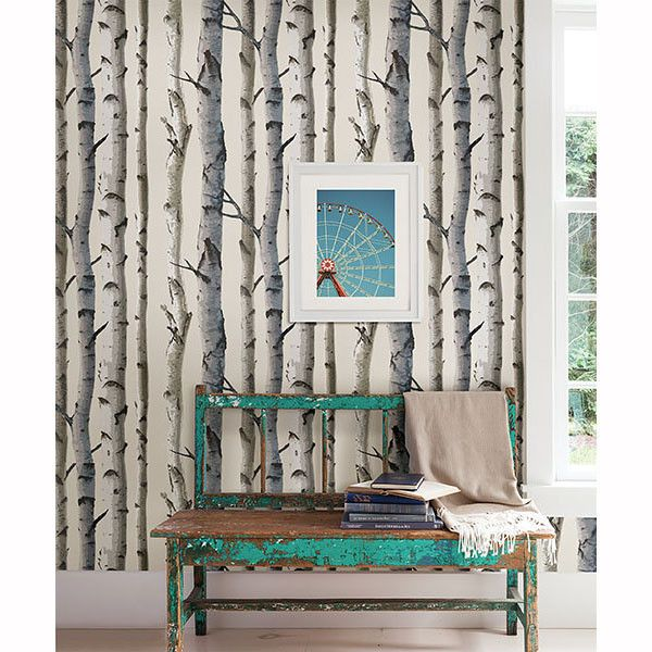 Birch Tree Wallpaper that's both stylish and eye catching for a great price! Live in nature