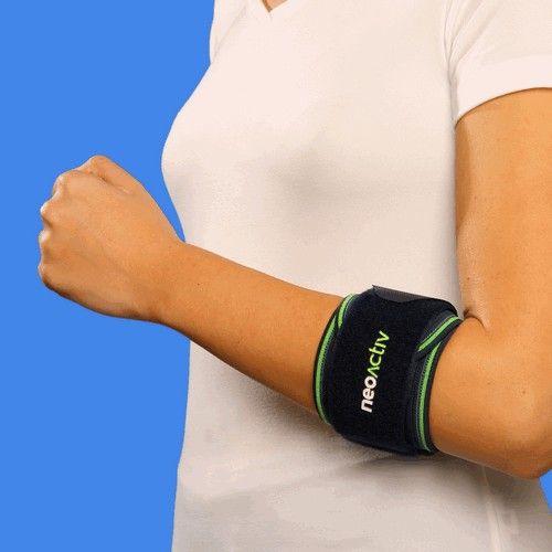 """CD01A NeoActiv Banda epicondilitis indicada para el cuidado y prevención de lesiones musculares, bursítis, inflamación de la fascia muscular, epicondilitis (""""codo de tenista""""), epitrocleitis (""""codo de golfista""""). #deporte #salud #ortopedia"""