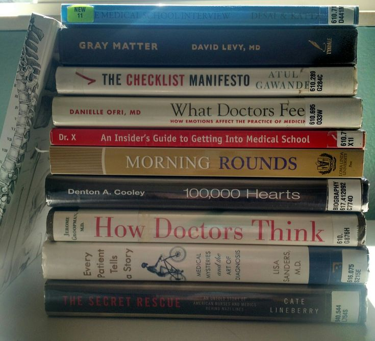 Pre med school reading list