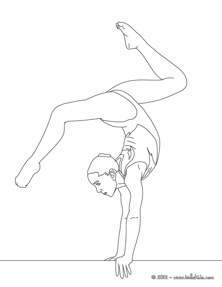 Balance Beam Artistic Gymnastics Coloring Page More Sports Pages On Hellokids