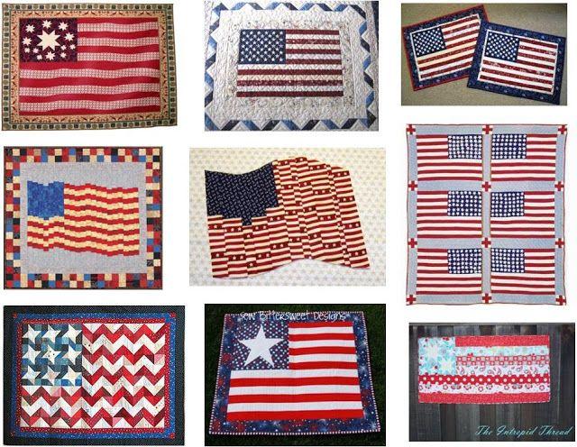Quilt Inspiración: Día libre Patrón: Quilts patrióticos