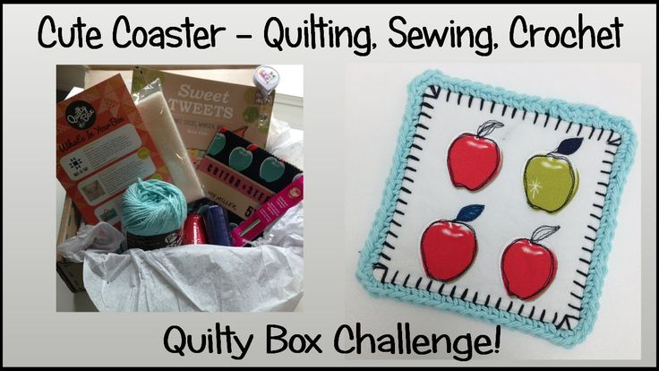 Make A Cute Coster With Quilting Sewing Crochet Quilty