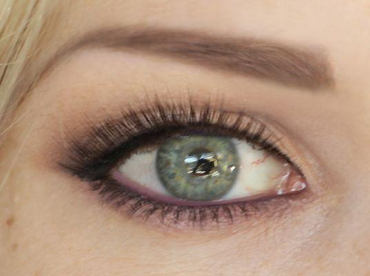 Grønne øyne. Foto og sminke av Randi d'Argent